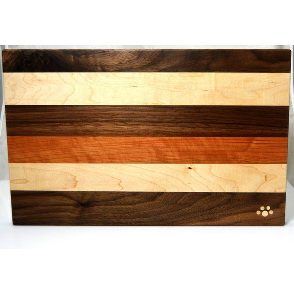 MAPLE, CHERRY, AND  BLACK WALNUT LARGE CHOPPING BOARD