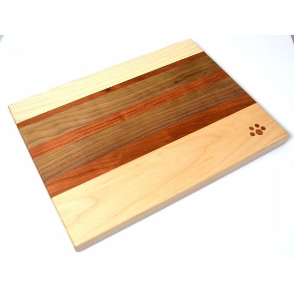MAPLE, CHERRY AND BLACK WALNUT WOOD CHOPPING BOARD