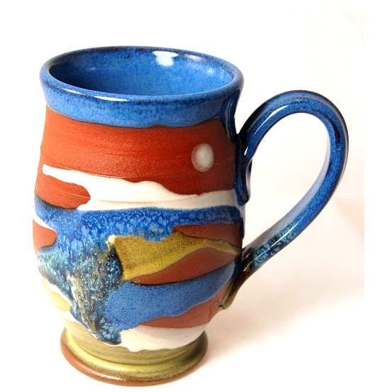 ROUND MUG TERRACOTTA - Side Street Studio