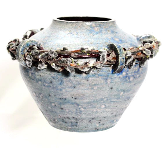 PUSSYWILLOW RAKU POT NO.4 - Side Street Studio