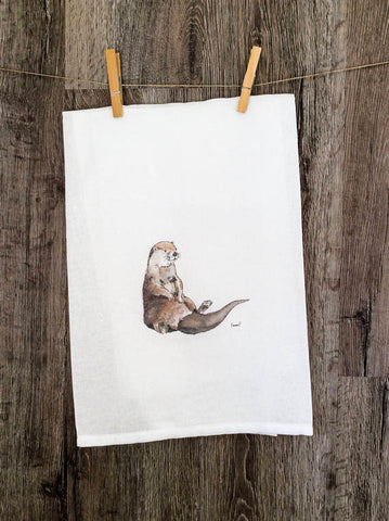 RELAXED OTTER TOWELS BY EMMA PYLE ART