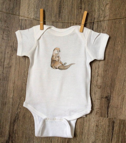 Relaxed Otter Baby Onesie 6 months