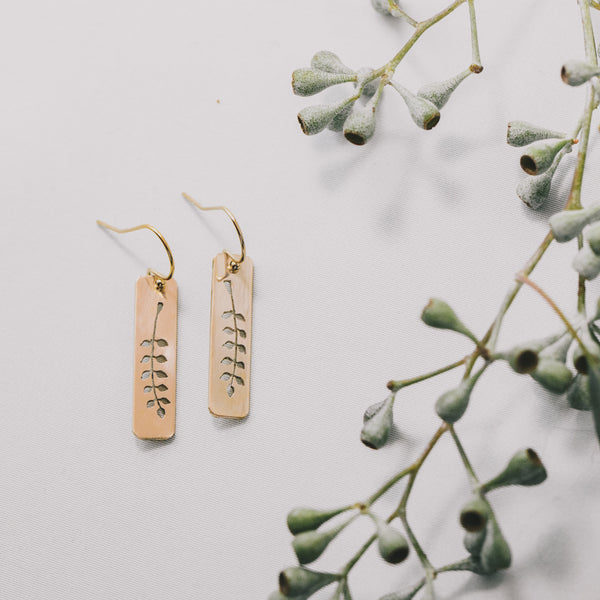 Fern Earrings in Gold