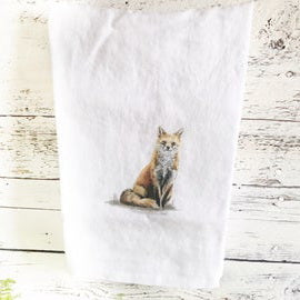 Fox Tea Towels by Emma Pyle