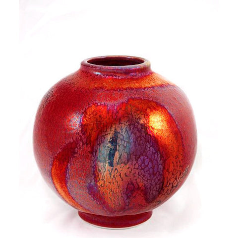 COPPER RUBY VASE - Side Street Studio