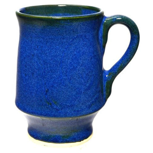 LARGE BLUE CERAMIC MUG - Side Street Studio