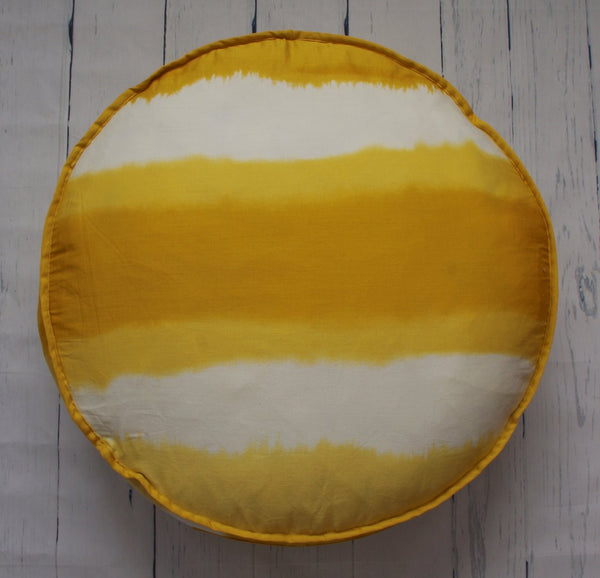 "24"" GOLDEN OMBRE ROUND FLOOR POUF"