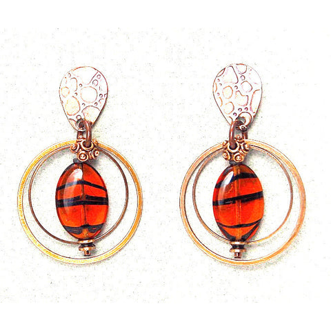 ELEMENTAL AMBER EARRINGS - Side Street Studio