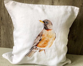 Robin Pillow Cover by Emma Pyle