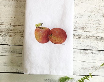Apple Tea Towels by Emma Pyle