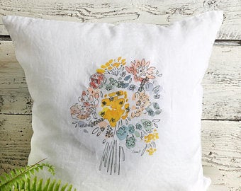 Bouquet Pillow Cover by Emma Pyle
