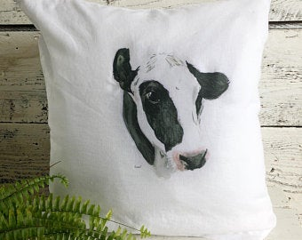 Holstein Pillow Cover by Emma Pyle