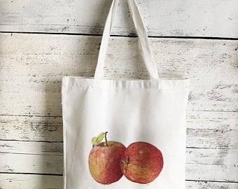 Apple Tote Bag by Emma Pyle Art
