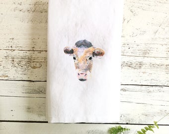 Pastel Cow Tea Towels by Emma Pyle