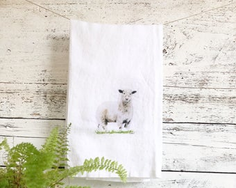Lamb Tea Towels by Emma Pyle