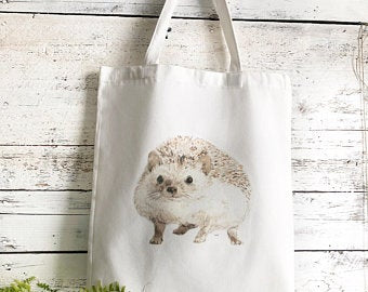 Hedgehog Tote Bag by Emma Pyle Art