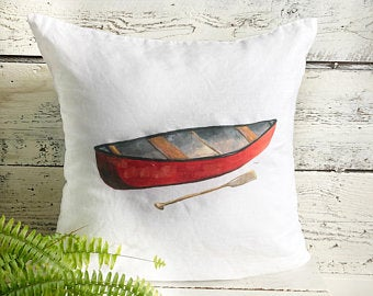 Canoe Pillow Cover by Emma Pyle
