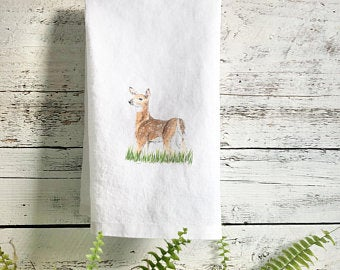 Deer Tea Towels by Emma Pyle
