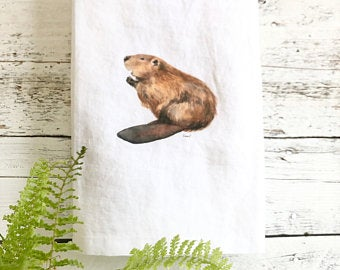 Beaver Tea Towels by Emma Pyle
