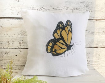 Butterfly Pillow Cover by Emma Pyle