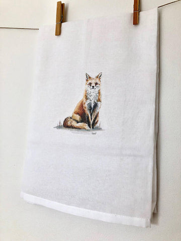 FOX TOWELS BY EMMA PYLE ART