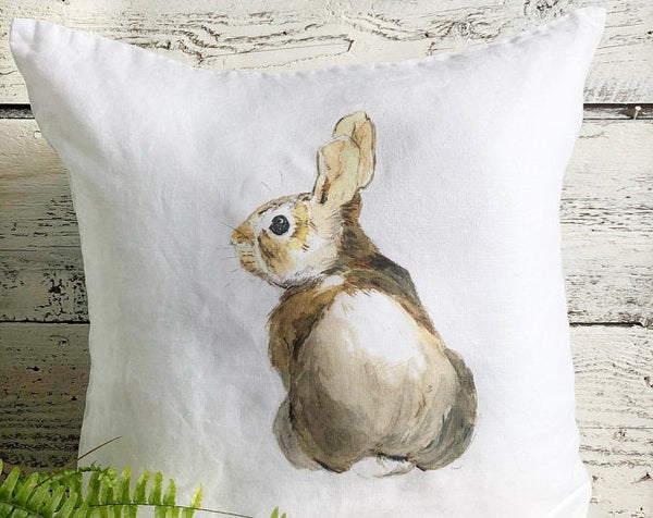 Bunny Pillow Cover by Emma Pyle