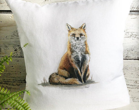 Red Fox Pillow Cover by Emma Pyle