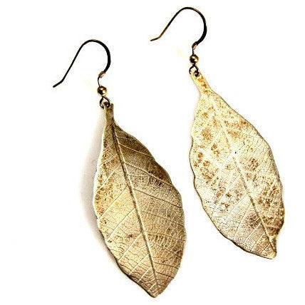 SILVER LEAF EARRINGS - Side Street Studio
