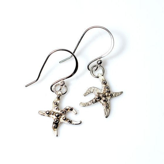 SILVER SEA STAR EARRINGS - Side Street Studio