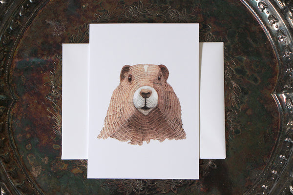 Marmot Greeting Card