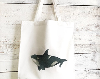 Orca Tote Bag by Emma Pyle Art