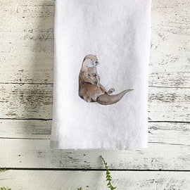 Otter Tea Towels by Emma Pyle