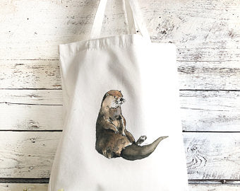 Otter Tote Bag by Emma Pyle Art