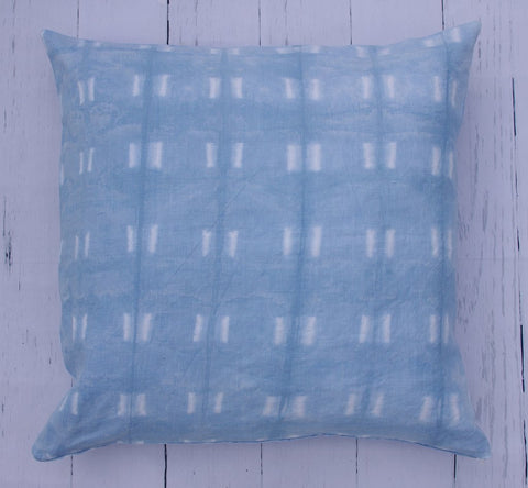 "24"" PREMIUM LINEN SHIBORI SQUARE FLOOR PILLOW"