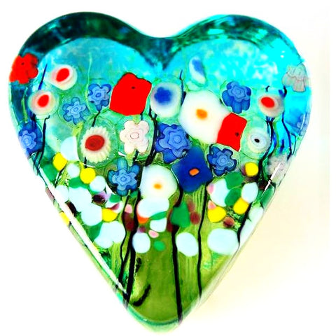 MEADOW SMALL HEART PAPERWEIGHT - Side Street Studio