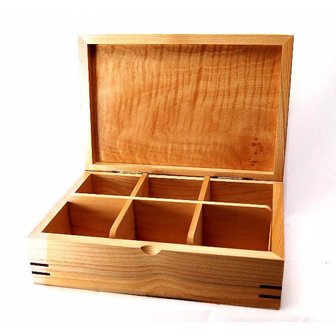 WESTERN MAPLE AND WALNUT TEA BOX - Side Street Studio - 1