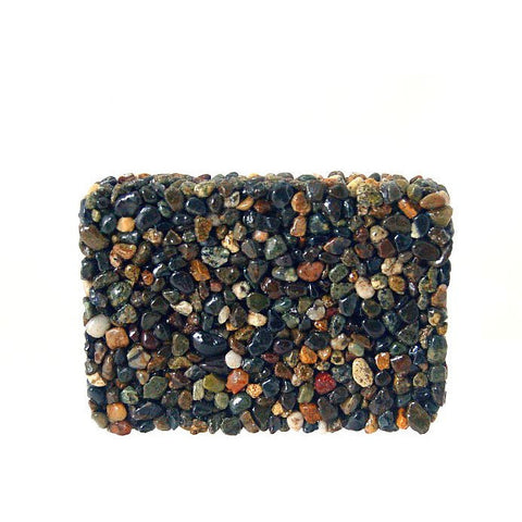 RECTANGULAR BLACK STONE SOAP DISH - Side Street Studio