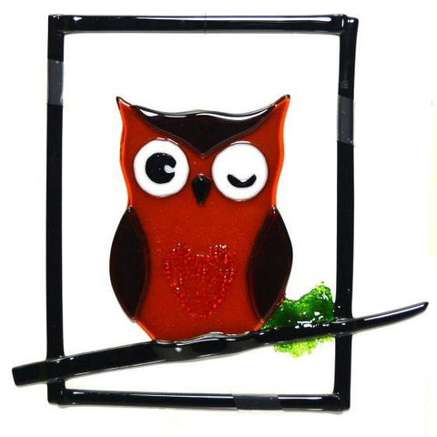 OWL GLASS HANGING