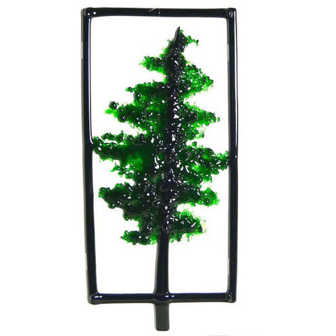 EVERGREEN TREE GLASS HANGING - Side Street Studio
