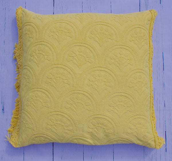 "24"" SUNSHINE AND RAINBOWS FRINGE SQUARE FLOOR PILLOW"