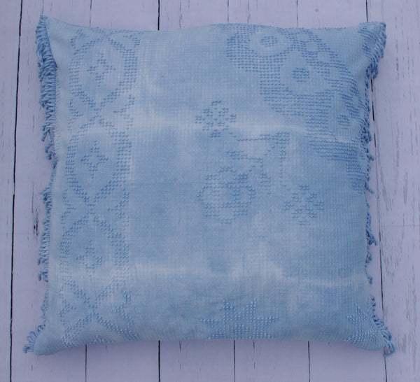 "24"" SHIBORI CHENILLE FRINGE SQUARE FLOOR PILLOW"