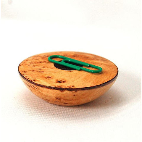 MAGNETIC PIN HOLDER YELLOW CEDAR BURL - Side Street Studio