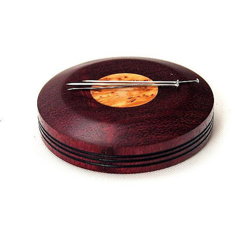 LARGE MAGNETIC PIN HOLDER - PURPLE HEART WOOD - Side Street Studio