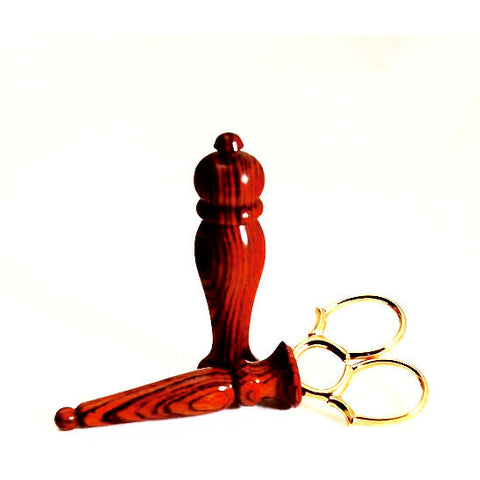 SCISSOR & NEEDLE CASE SET Cocobolo Rosewood - Side Street Studio