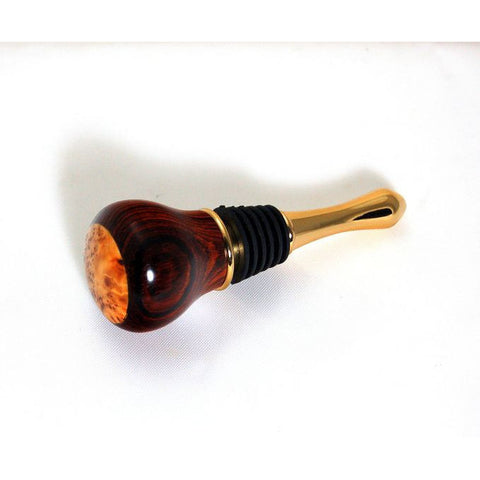 BOTTLE STOPPER - Cocobolo Rosewood - Side Street Studio