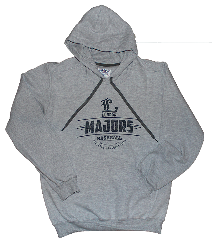 Arched Majors Logo - Premium Cotton Adult Hooded Sweatshirt