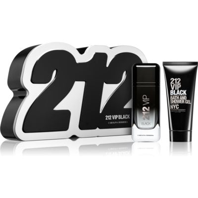SET M CAROLINA HERRERA 212 VIP BLACK 2 PC (Free Shipping)