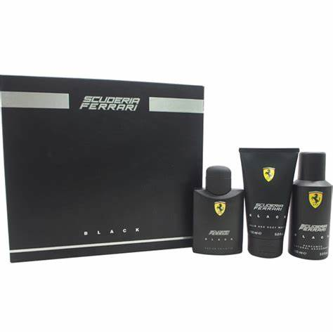 SET M FERRARI SCUDERIA BLACK 3 PC