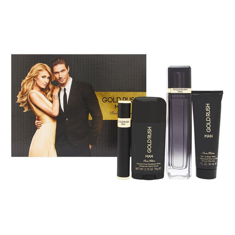 SET M PARIS HILTON GOLD RUSH MAN 4 PC