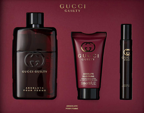 SET W GUCCI GUILTY ABSOLUTE 3 PC